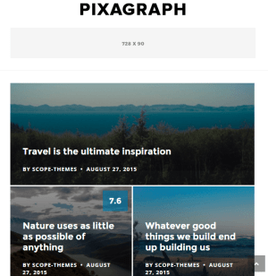 Pixagraph - Fully responsive WordPress Blog and magazine theme