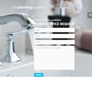 Plumbing - Repair, building and Construction WordPress theme