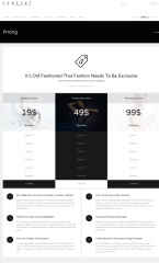 Pricing Page – Comfort