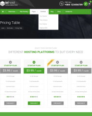 Pricing table of Inhost