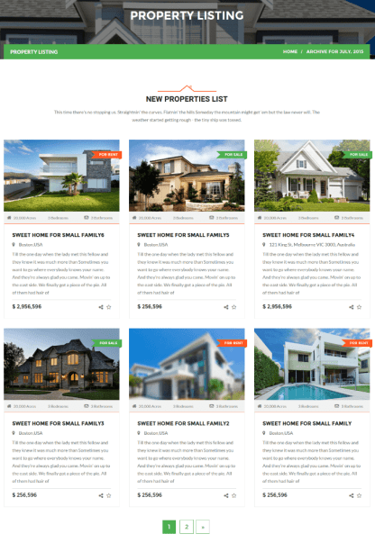Property Page of Realtor
