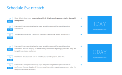 Schedule – Eventcatch