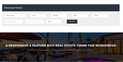 Search box of Real estate