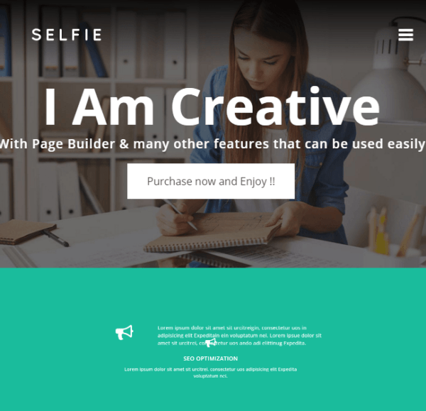 Selfie – Creative Portfolio WordPress theme