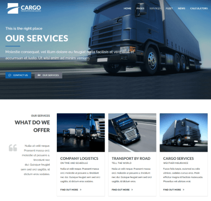 Services Page - Cargo