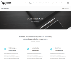 Services Page – Gordon