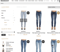 Shop Page of midNight