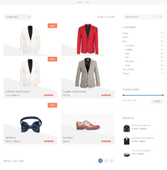 Shop page of Cavalier theme