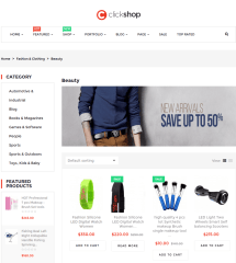 Shop page of Clickshop