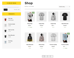 Shop page of Forman theme