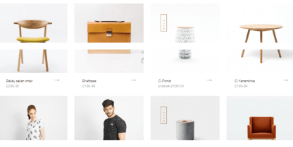 Shop page of Noren theme