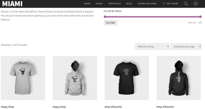 Shop page of maimi