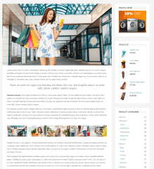 Shopica – page with right sidebar