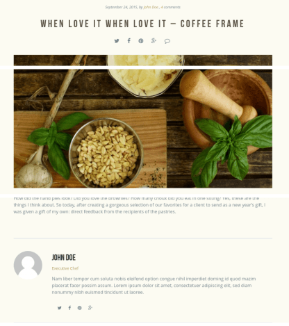 Single Blog Page - Gourmet