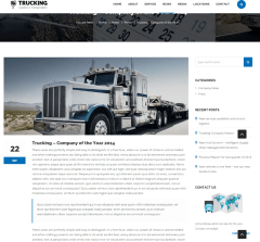 Single Blog Page – Trucking
