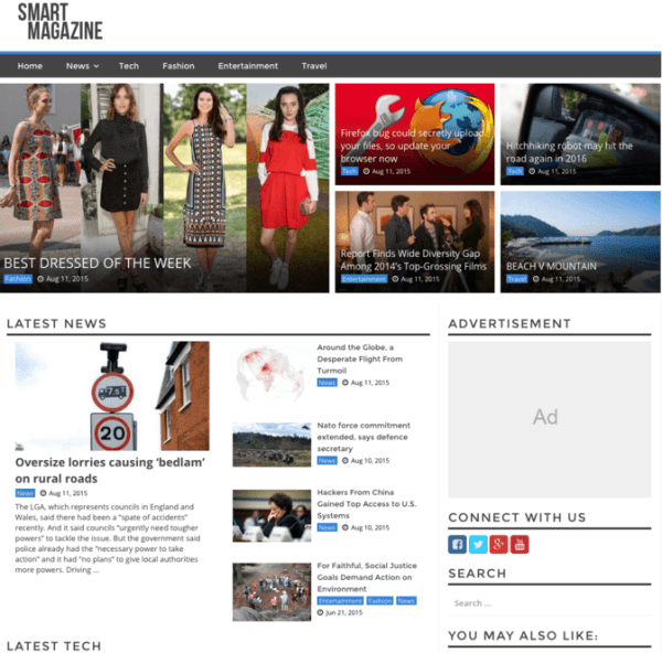 Smart Magazine – Magazine WP theme