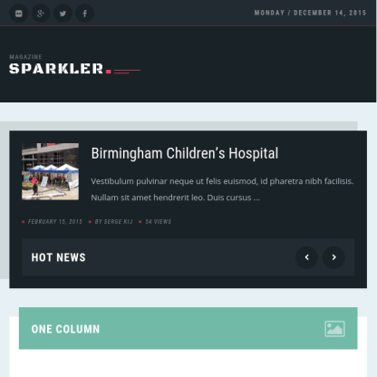 Sparkler - Responsive Wordpress Magazine Theme