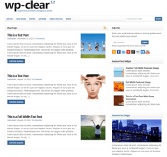 Standard Blog layout  WP-Clear