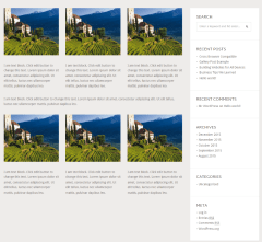Stone Hill – Page with sidebar