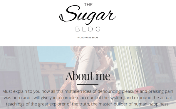 SugarBlog About Me Page