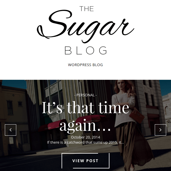SugarBlog – Clean & Personal WordPress Blog Theme