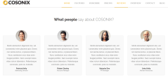 Testimonial page of Cosonix