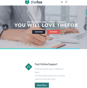 The Fox - Multipurpose WordPress theme.