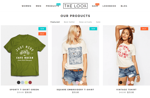 The Look Products Page