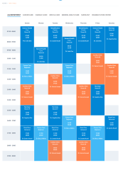 Timetable Page – MedicalPro