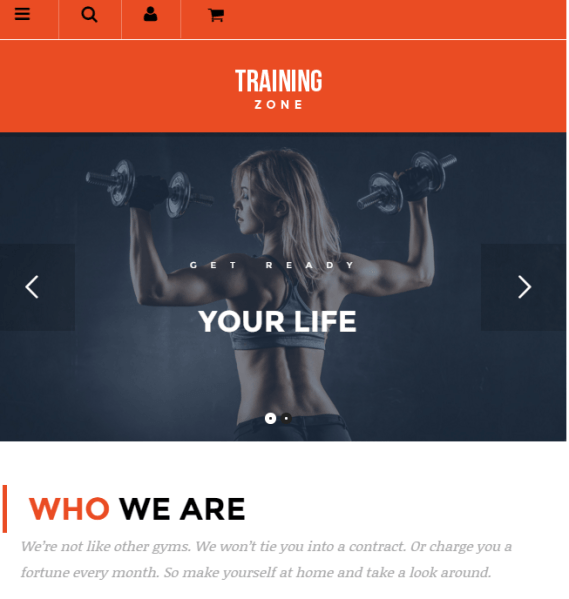 Training zone – Fully responsive Gym and fitness WordPress theme