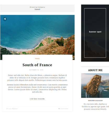 Travel category of Maybach theme