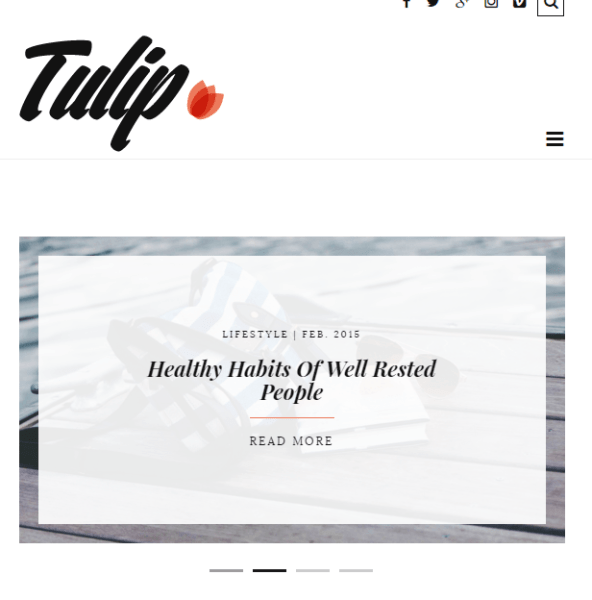 Tulip – WordPress Blogging theme