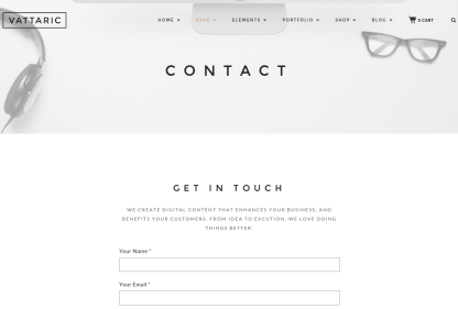 Vattaric Contact Us Page
