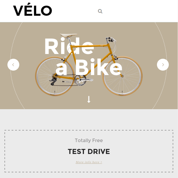 Velo – Bike Store Responsive Business Theme