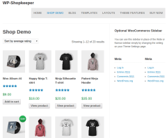 WP-Shopkeepe Shop Page