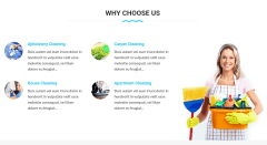 Why Choose Us Section of Cleaning