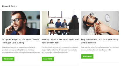 WorkScout Recent Posts Page