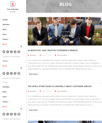 blogpage of The brand