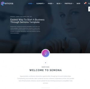 homepage of semona
