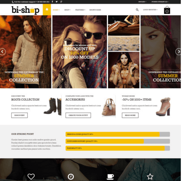 Bishop – Multipurpose and responsive Woocommerce WordPress theme