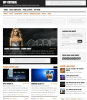 Homepage of WP Critique theme.
