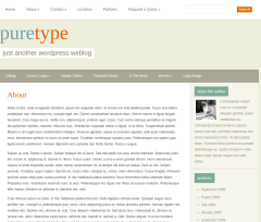 About Page of PureType