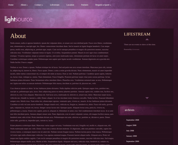 About Us Page of LightSource
