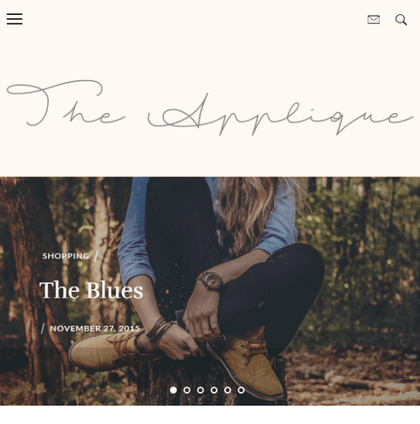 Applique – WordPress theme for fashion blogs.