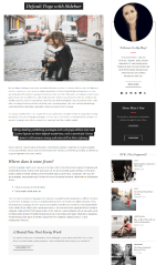 Avocet – page with sidebar