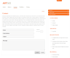 Contact Page of ArtSee