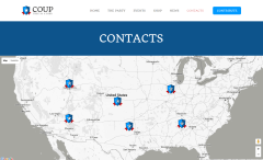 Contact Page of COUP