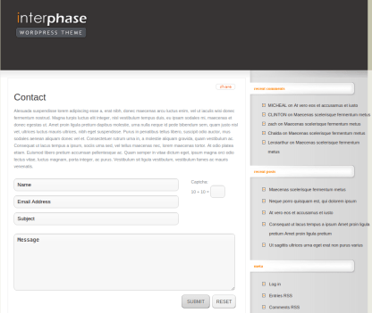 Contact Page of InterPhase