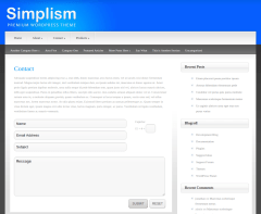 Contact Page of Simplism