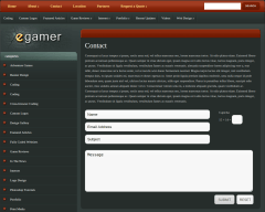 Contact Page of eGamer